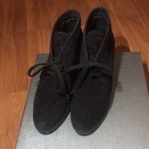 Prada Suede Wedge Sneaker